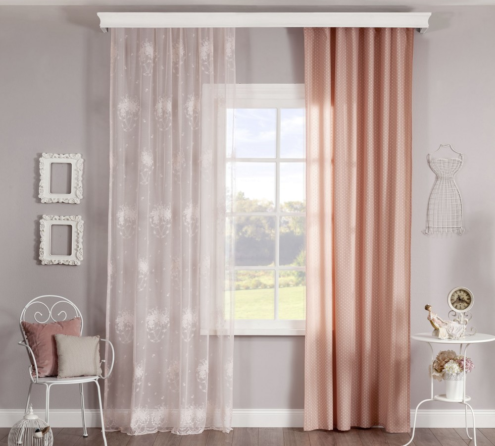 roze dream gordijn romantic meisjeskamer kinderkamer. Black Bedroom Furniture Sets. Home Design Ideas