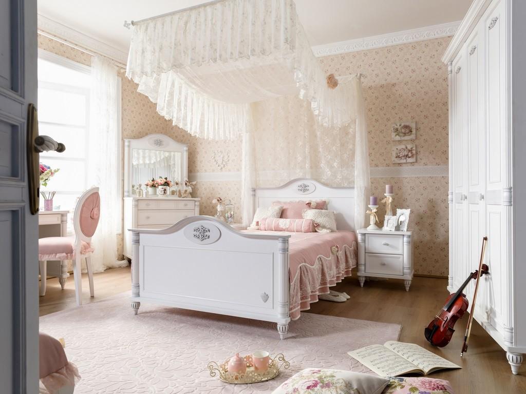 Romantic twijfelaar meisjes bed 200 x 120 kinderkamer kinderbed terrashaard en barbecues - Imagenes de decoracion de habitaciones romanticas ...