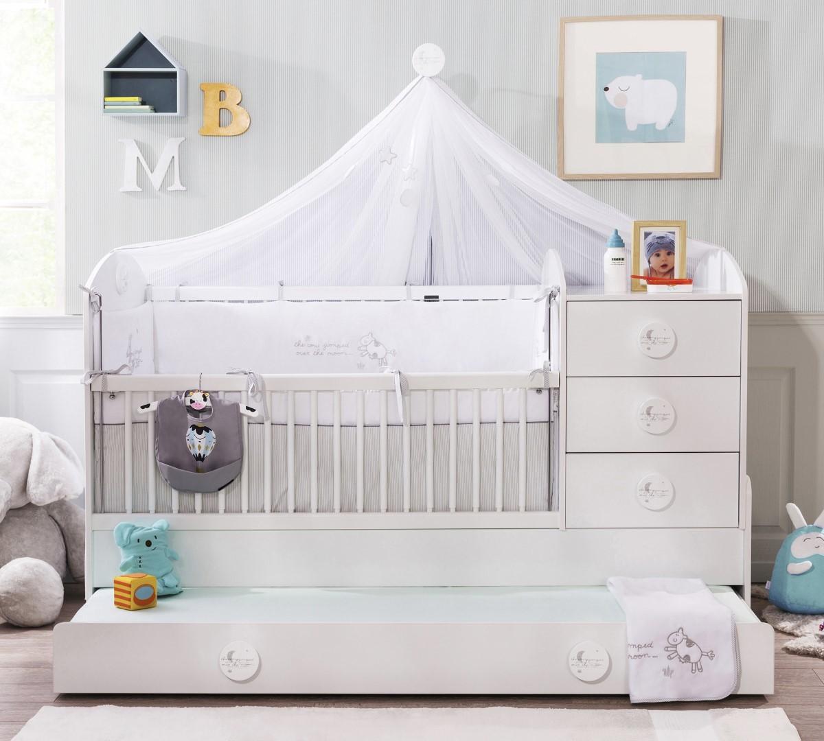 sachsa babykamer babybed ledikant meegroeibed 4 in 1 kinderkamer kinderbed terrashaard en. Black Bedroom Furniture Sets. Home Design Ideas