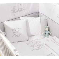 Sachsa Cotton kussenset ledikant babybed 130 x 80 cm