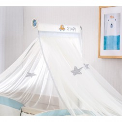Babykamer Blauw muskietennet / klamboe