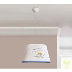 Babykamer Blauw hanglamp peuterkamer