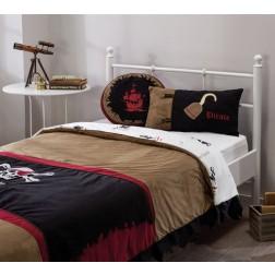 Black Pirate bedsprei + kussenset (120 - 140 cm)