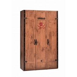 Black Pirate 3-deurs kledingkast piraten