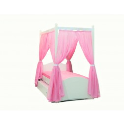 Cindy hemelbed / meisjesbed roze 200 x 90 cm