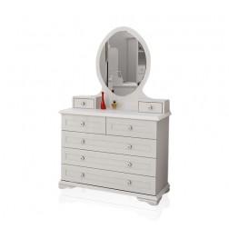 Cindy kinderladenkast met verlichte spiegel kinderkamer | wit