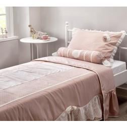 Romantic bedsprei + kussenset (90 - 100 cm)