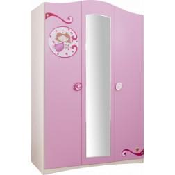 Elsa 3-deurs kledingkast meisjeskamer