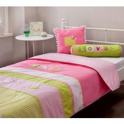 Love bedsprei + kussenset (90-100 cm)