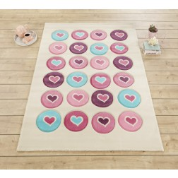 Love tapijt vloerkleed meisjeskamer prinsessenkamer
