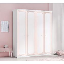 Emily Pink 4-deurs kledingkast meisjeskamer kinderkamer