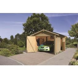 Karibu Garage blokhut 28mm | 297 x 447 cm
