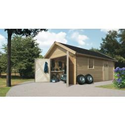 Karibu Garage blokhut 40mm | 387 x 537 cm
