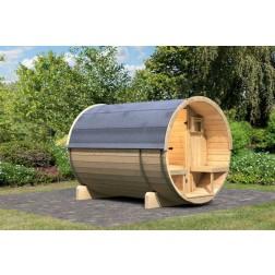 Karibu buitensauna Barrel 2 | 216 x 280 cm