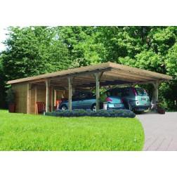 Karibu Classic carport dubbel 2 | 598 x 673 cm