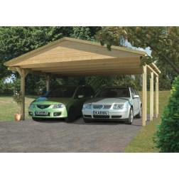 Karibu Classic carport zadeldak 3 | 530 x 496 cm