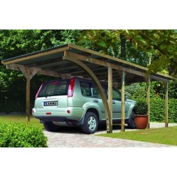 Karibu Carport enkel 2 | 304 x 676 cm