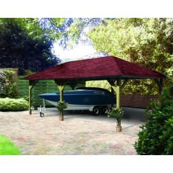 Karibu Classic carport Kirn 2 | 338 x 592 cm