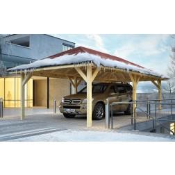 Karibu Classic carport Kirn 3 | 431 x 778 cm