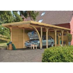 Karibu Premium carport enkel 3 | 318 x 860 cm