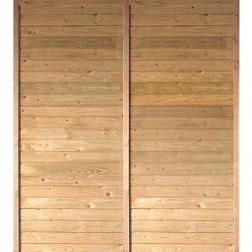 Karibu Zijwand voor garage/carport | 180 x 200