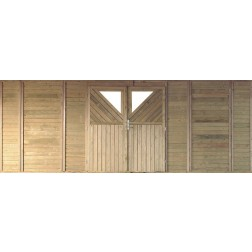 Karibu Frontelement dubbel voor garage/carport | 540 x 200