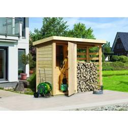 Karibu Opbergkast brandhout | 260 x 92 cm