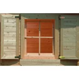 Karibu Vensterluiken enkel raam | onbehandeld (80 x 34 cm)