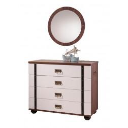Piraten ladenkast (hutkoffer) & spiegel
