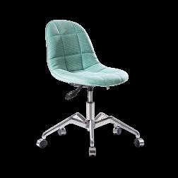 Moderne stoel bureaustoel turquoise tienerkamer