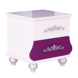 Prinses Paars kindernachtkastje voor de kinderkamer