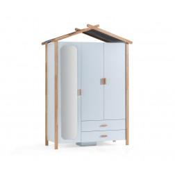 Oslo 3 deurs kledingkast wit kinderkledingkast Scandinavische kinderkamer