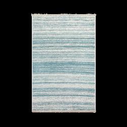 Pacific tapijt vloerkleed blauw wit gestreept