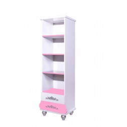 Prinses kinderboekenkast roze/wit voor de kinderkamer