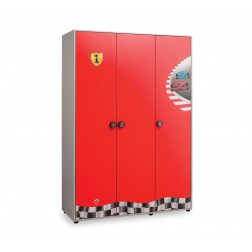 Race Cup 3 deurs kledingkast auto