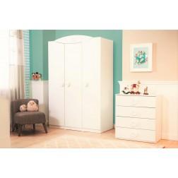 Sachsa baby kledingkast 3 deurs babykamer