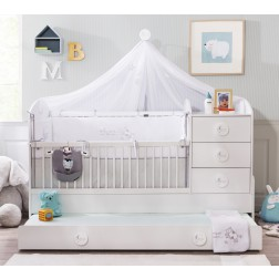 Sachsa babykamer babybed ledikant meegroeibed | 4 in 1