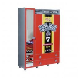 Turbo Special kinderkledingkast 3-deurs | Rood
