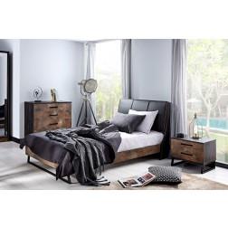 Trento industrieel bed tienerkamer 200 x 100 cm