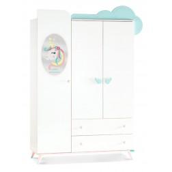 Unicorn 3 deurs kledingkast meisjeskamer