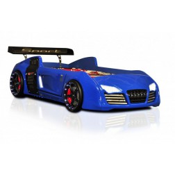 Autobed / Racebed V8 Turbo | blauw kinderbed jongensbed