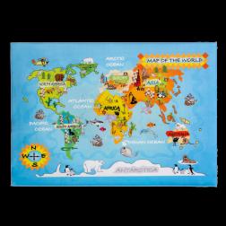 Wereldkaart tapijt vloerkleed speelkleed kinderkamer