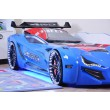 Autobed carbed street racer blauw kinderkamer