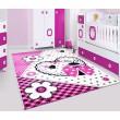 Bloemen tapijt vloerkleed meisjes kamer kinderkamer roze