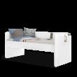 California Studio bovenste bed 200x90 wit