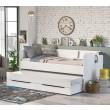 California Studio bovenste bed met bedlade, wit logeerbed, bed met opbergruimte