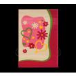Elsa tapijt roze vloerkleed, vloerkleed met harten, tapijt met hartjes, tapijt meisjes