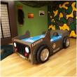 Leger jeep kinderbed autobed kinderkamer jongensbed