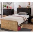 New York tienerbed kinderbed bed tienerkamer zwart hout