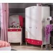 Sweety inspiratie meisjeskamer roze, kinderladekast wit met roze, meisjeskast
